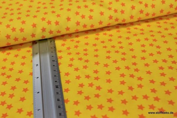 Baumwolle | bedruckt | Sternchen | gelb