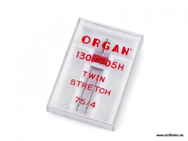 Maschinennadeln | Organ | Zwillingsnadeln / Doppelnadeln | Stretch 75/4