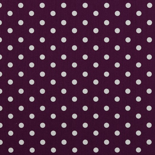 Baumwolle | bedruckt | 8mm Punkte | lila/weiss