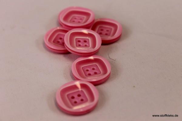 5 wunderschöne Kunststoff-Knöpfe | rosa | ca 1,8cm