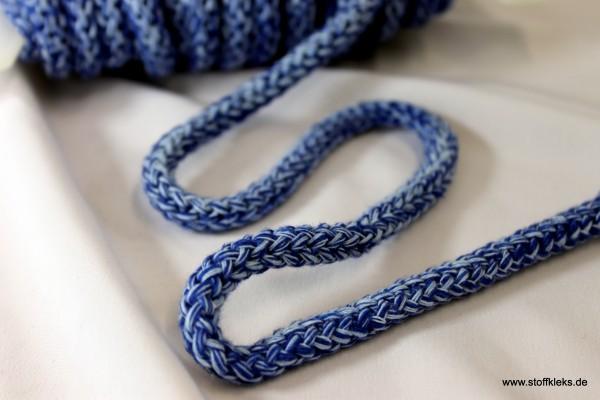 Baumwollkordel   8mm   blau melange