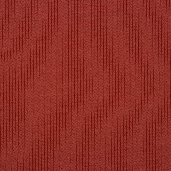 Jersey | bedruckt | recycelte Baumwolle | Strickmuster | rot