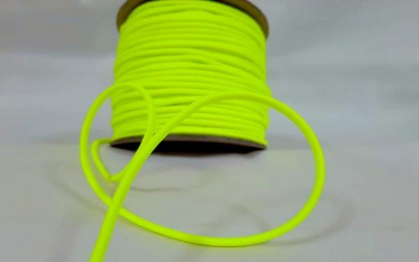 Gummikordel 3mm | neongelb | 10m