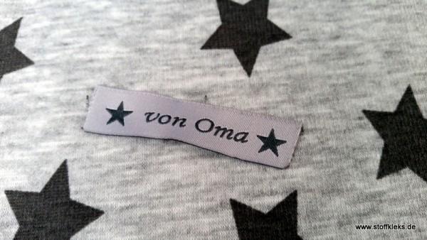 Applikation | Label | von Oma | grau