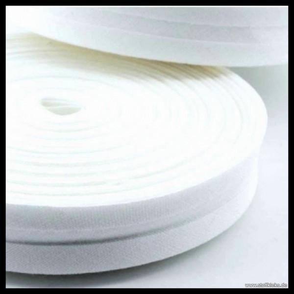 Schrägband/Einfassband | 20mm | Baumwolle | weiss | 20m