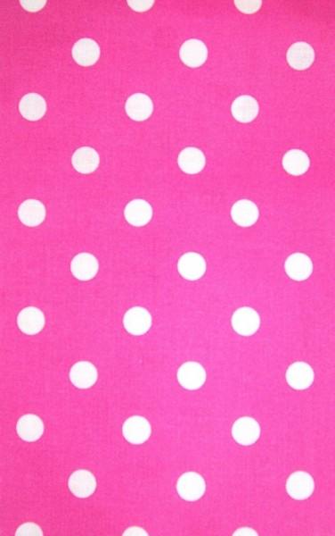 Baumwolle | bedruckt | 8mm Punkte | pink/weiss