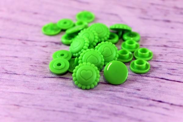 Snap | T5 | 20st | Blumenherz | B50 | neon grün