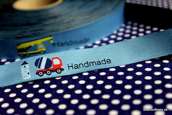 Webband | Blaubeerstern | Handmade-Baustelle | blau