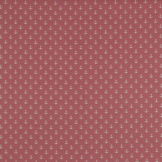 Baumwolle | bedruckt | Anker klein | altrosa