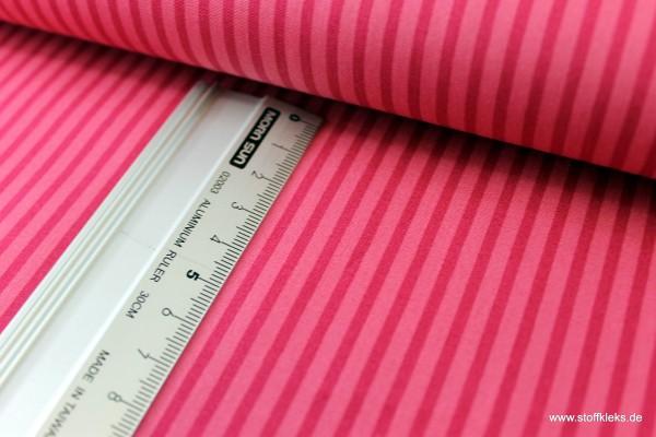 Baumwolle | bedruckt | long stripes | rosa / bordeaux