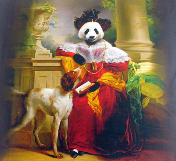 Jersey   bedruckt   Panel   Pandakönig