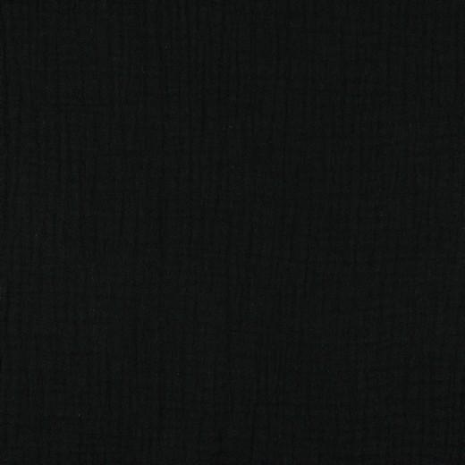 Baumwolle | double gauze/Musselin | Uni | schwarz