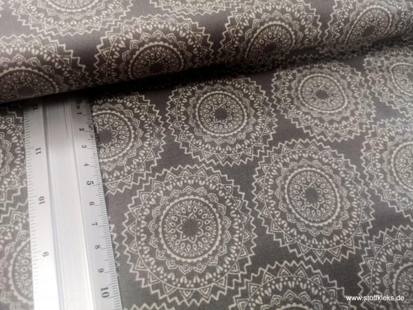 beschichtete Baumwolle / Wachstuchstück | Kreisblumen