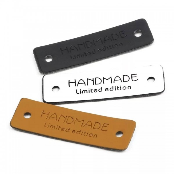 Label | Applikation | Lederimitat | 6x handmade limited edition