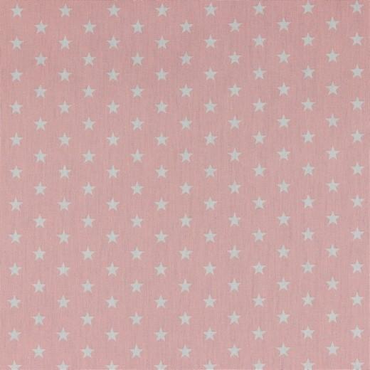 Baumwolle | bedruckt | 10mm Sterne | rosa/weiss