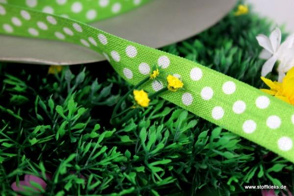 Gummiband | Punkte | grün