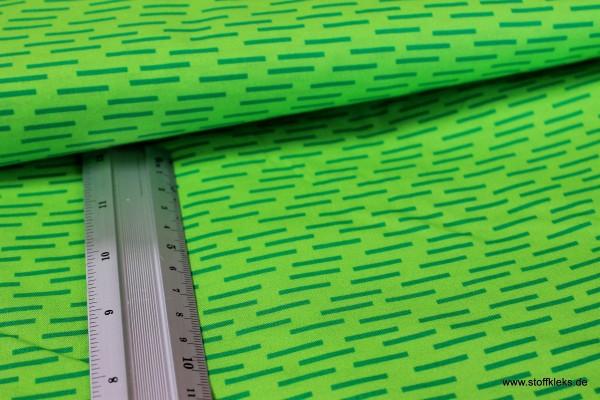 Baumwolle | bedruckt | kleine Streifen | hellgrün