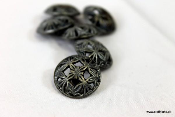 5 Blumengitter - Metallknöpfe mit Öse | ca. 1,8 cm