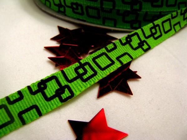 Ripsband | quadratisch | grün