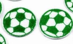 2 Applikationen | Fußball | grün | 35mm