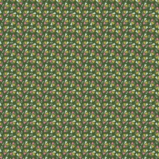 Baumwolle | bedruckt | SWEET LITTLE LEAVES | grün