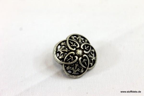 Knopf   Metall   Öse   Mandala antiksilber   1,8 cm