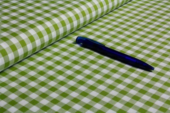 Baumwolle | Vichy | 8mm | moosgrün/weiß