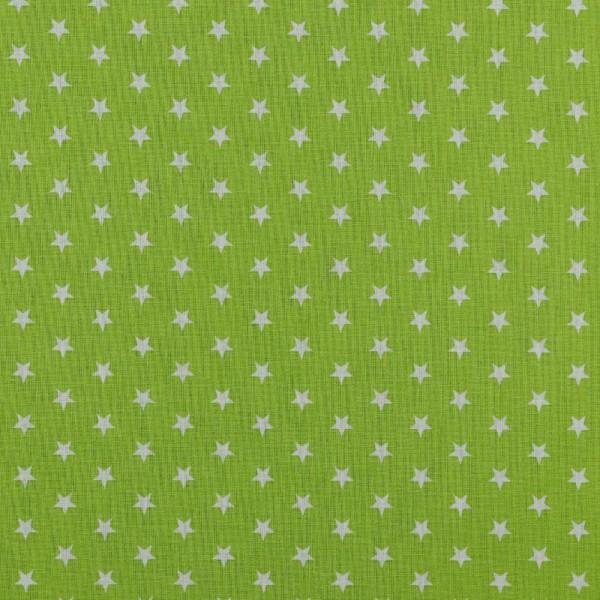 Baumwolle | bedruckt | 10mm Sterne | lime/weiss