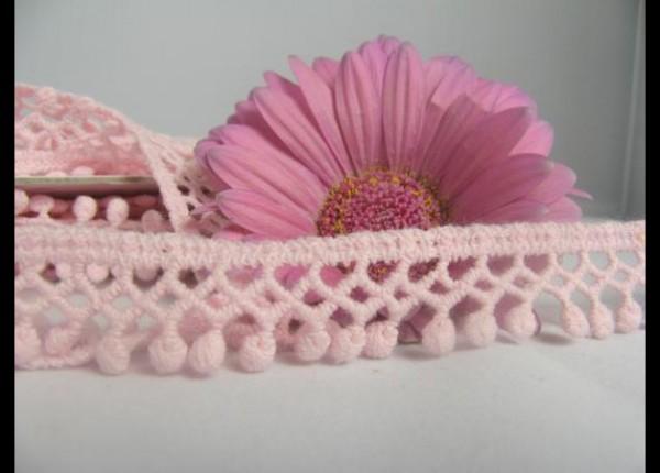 Häkelbommeln | rosa