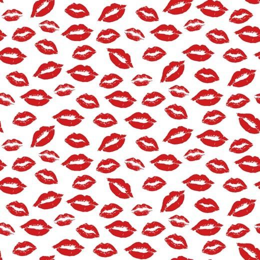Baumwolle | bedruckt | sweet lips | weiss