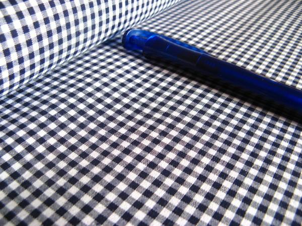 Baumwolle | Vichy | 3mm | dunkelblau/weiß