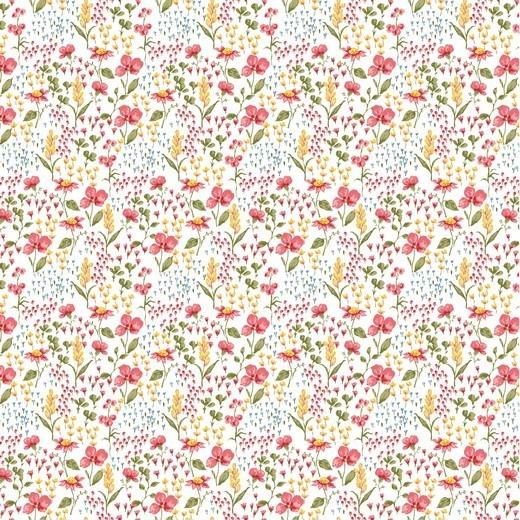 Baumwolle | bedruckt | POPLIN FLOWER | weiss