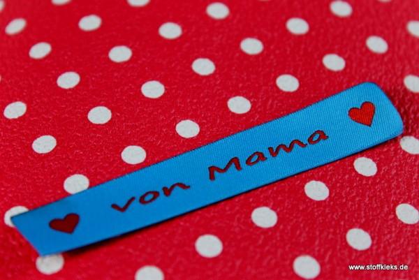 Applikation | Label | von mama | blau