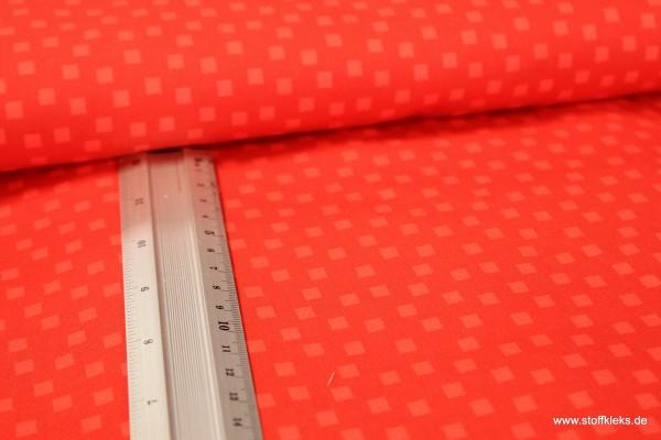 Baumwolle | bedruckt | Quadrate | rot