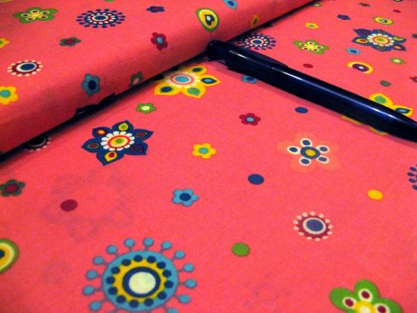 Baumwolle | bedruckt | Blumen-Freunde pink