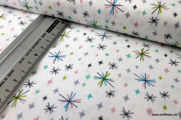 Baumwolle | bedruckt | Lewis&Irene | So Daring !! D#A289 | Sterne | weiß