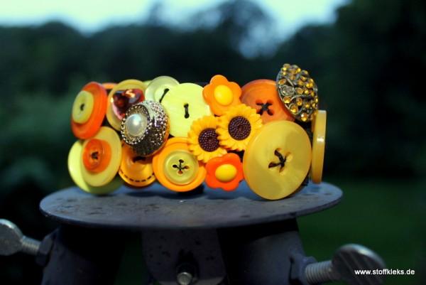 Knopfarmband - Set zum Selbermachen | gelb/orange