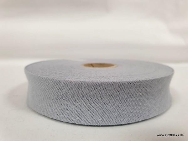 Schrägband/Einfassband | 20mm | Baumwolle | hellgrau | 3m