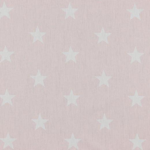 Baumwolle | bedruckt | 3cm Sterne | hellrosa/weiss