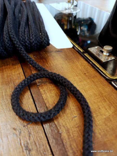 Baumwollkordel | 8mm | schwarz