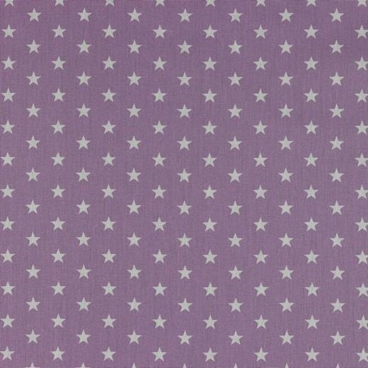 Baumwolle | bedruckt | 10mm Sterne | flieder/weiss