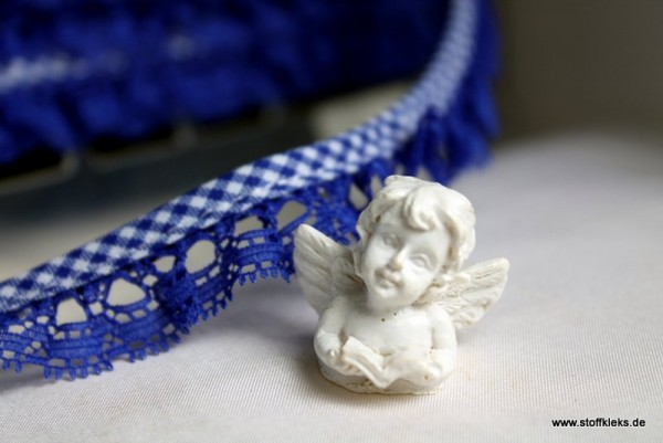 Rüschenband | Vichy | 20 mm | blau