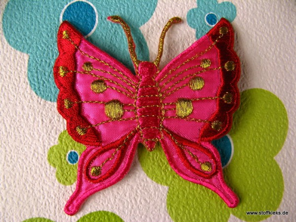 Applikation | Schmetterling | pink