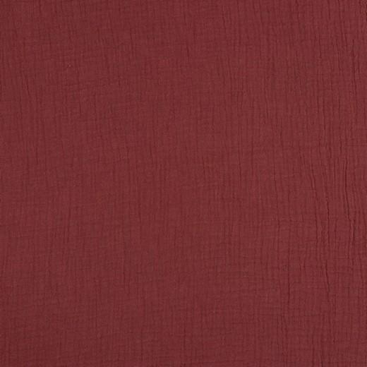 Baumwolle | double gauze/Musselin | Uni | rouge