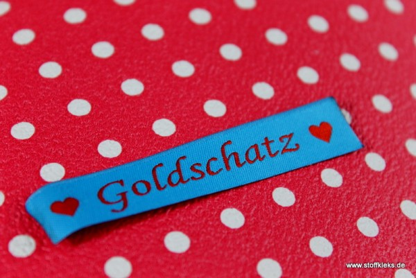 Applikation | Label | Goldschatz | blau