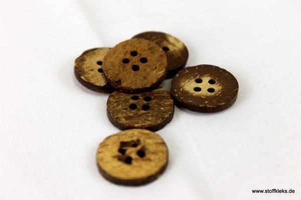 5 hübsche Holzknöpfe | braun | ca 1,8cm