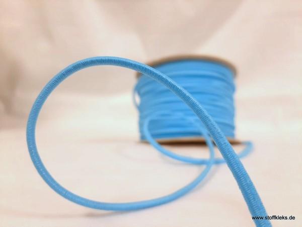 Gummikordel 3mm | neonblau | 10m