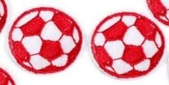 2 Applikationen | Fußball | rot | 35mm