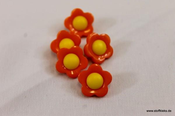 5 Knöpfe | Flower Power | Sommerblümchen | 1,1 cm