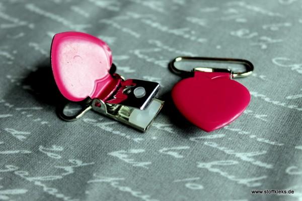 Applikation & Co | Metallclips | Herz | pink